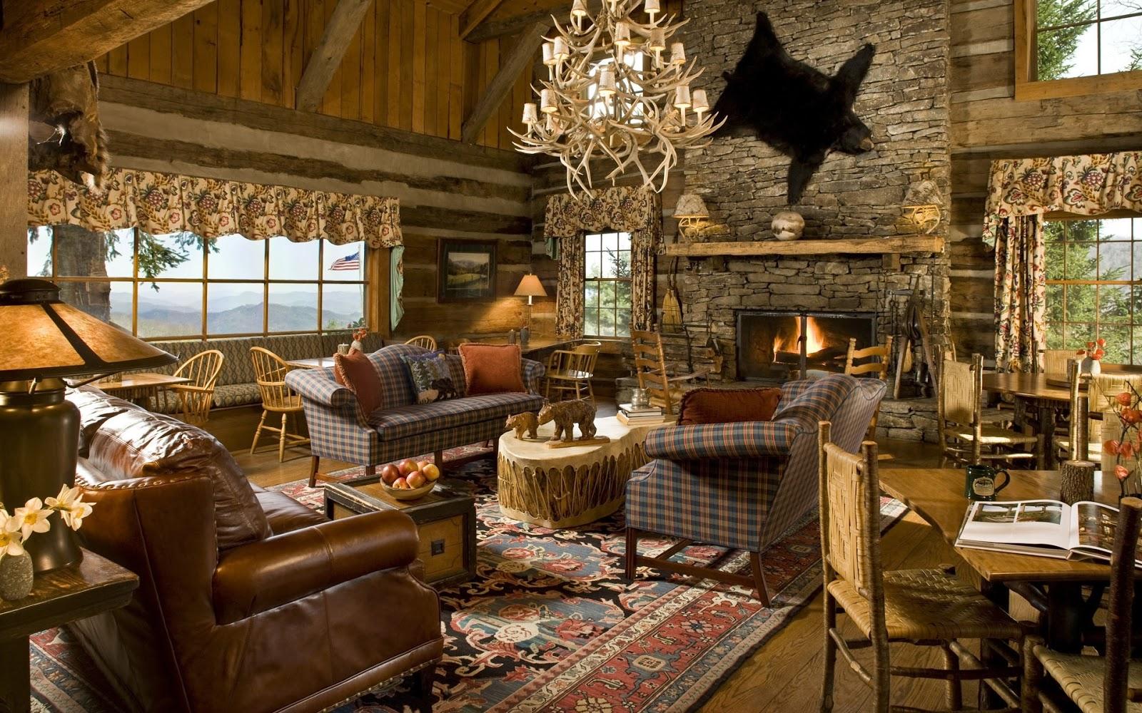Fotos de salas r sticas colores en casa for Sala de estar antigua
