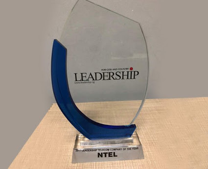Ntel Emerges Leadership Telecoms Company Of The Year (Photo)