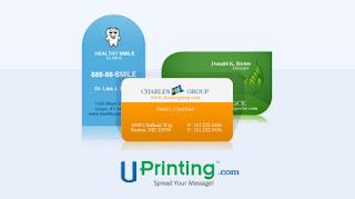 UPrinting Die Cut Business Card Giveaway
