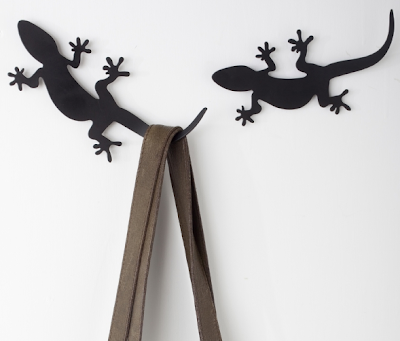 gecko coat rack hook, black