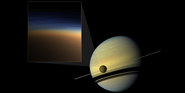 scientists present new clues to cut through the mystery of titan s atmospheric haze