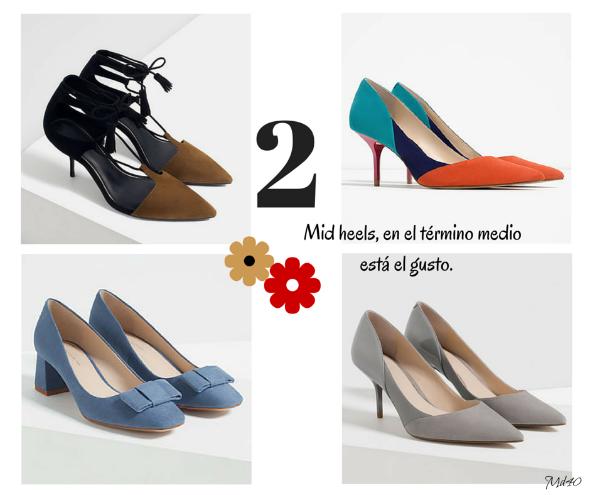 zapatos y sandalias primavera verano 2016 mid heels