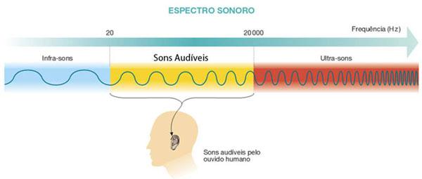 tipos de sons audíveis e não audiveis