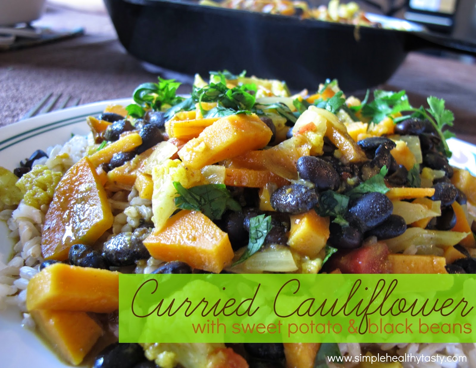 With Sweet Potato and Black Beans