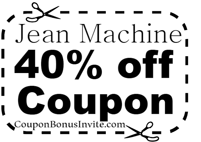 Jean Machine Coupons, Discount Codes, Promo Codes May, June, July, August, September, October, November 2017-2018