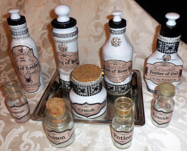 Halloween Potion Bottles, Part 1