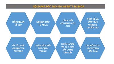 Nội dung đào tạo website tại MOA