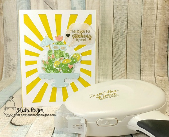 Newton's Nook Designs & Xyron Inspiration Week | Cactus card by Nakaba Rager | Cultivated Cacti Stamp Set  by Newton's Nook Designs #newtonsnook #xyroninc