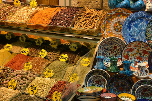Egyptian Market Istanbul Ceramic Spices