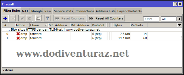 Tutorial Cara Blokir Situs HTTPS di Mikrotik Dengan TLS-Host