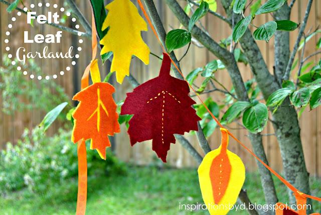 DIY: Felt Leaf Garland