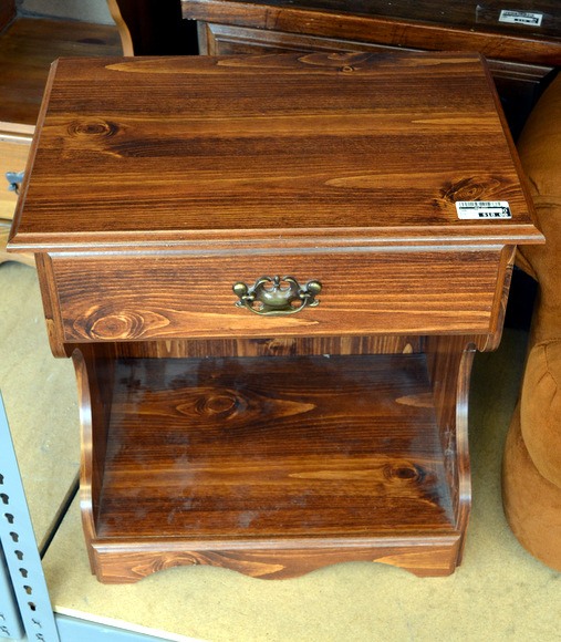 New uses nightstand wooden brown