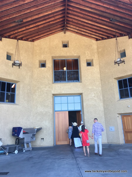 entering the winery at Mayacamas Estate experience at Long Meadow Ranch in St. Helena, California
