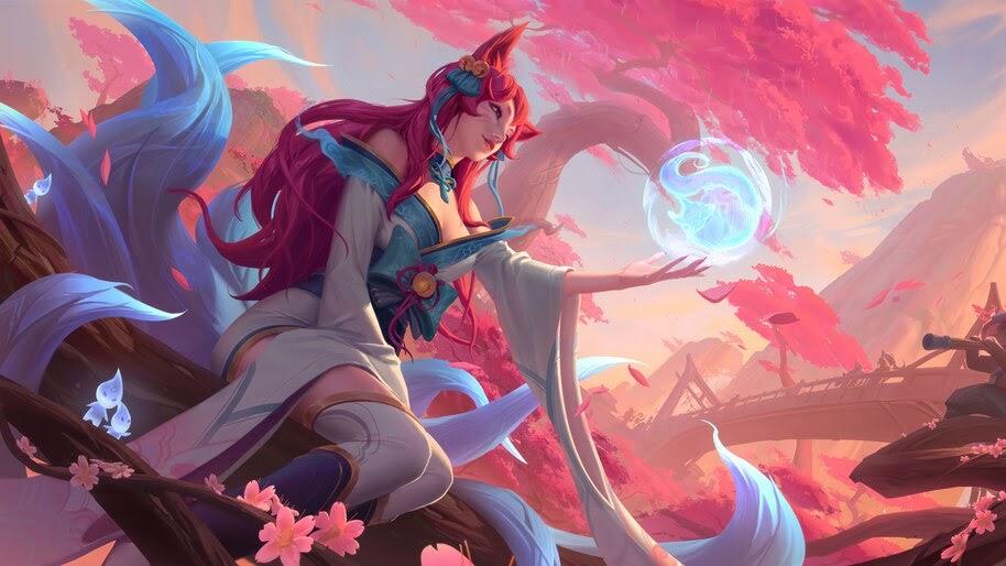 Ahri, Spirit Blossom, LoL, 4K, #5.2649