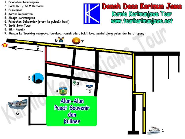 lokasi menuju hotel omah alchy Karimun Jawa
