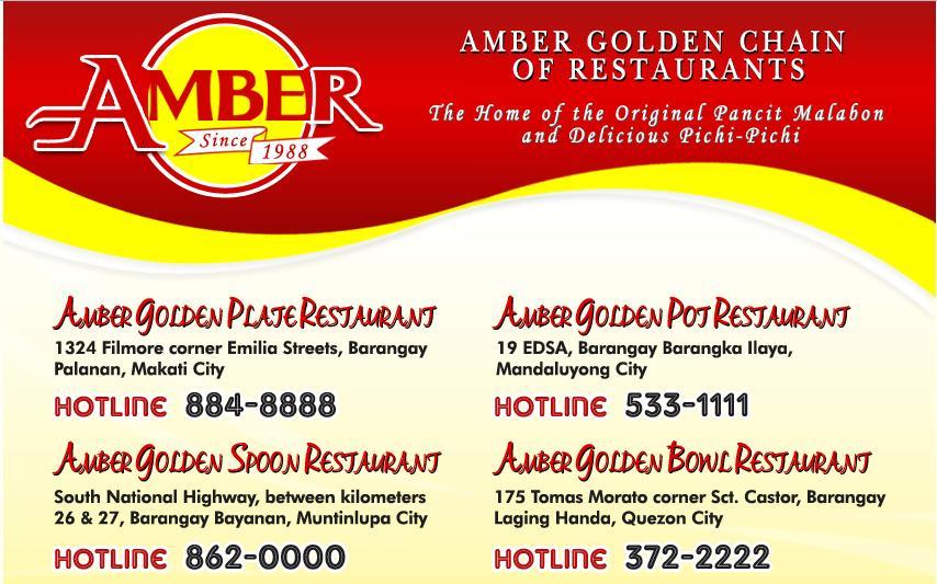 Menu Ambers Mandaluyong