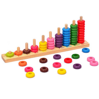 Math abacus for learning to count to 10