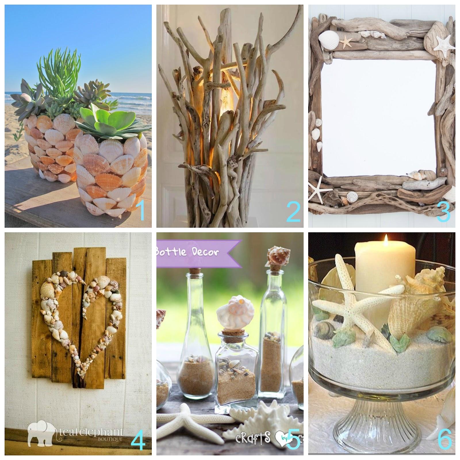Conchiglie e legnetti di mare per decorare casa col fai da te for Decorazioni con conchiglie