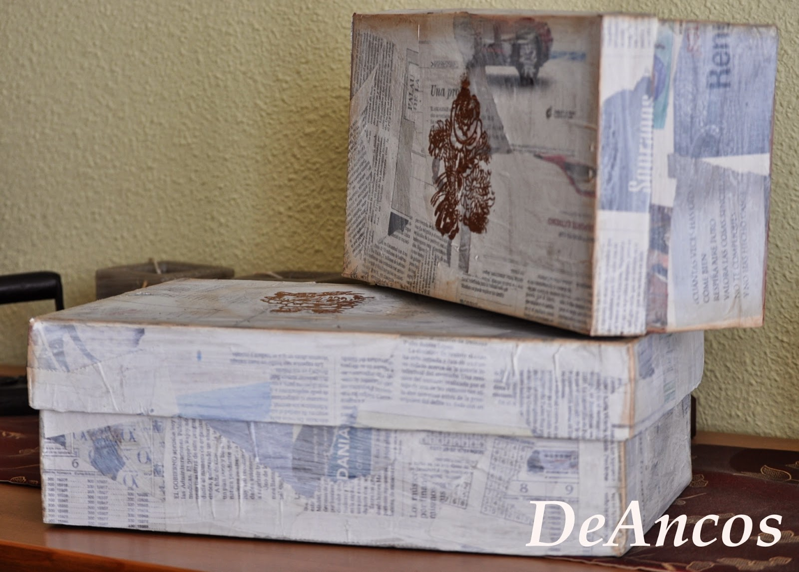 Cajas de zapatos decoradas un poco para compartir - Como adornar una caja de zapatos ...