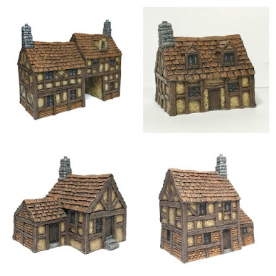 4 - Piece Timber Framed Buildings Set from Battlescale