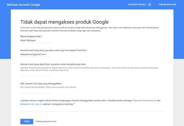 Tidak dapat mengakses produk Google