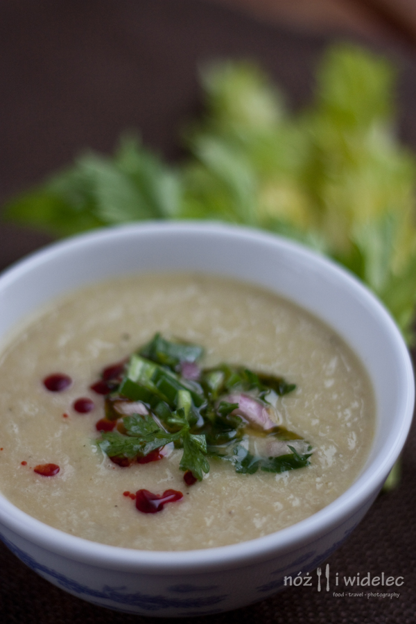 zupa, seler, salsa verde