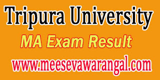 Tripura University MA In Music (Vocal) IInd Sem 2016 Exam Results