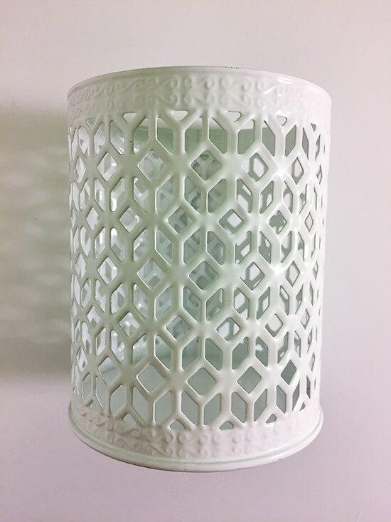 dollar tree Decorative white candle holder