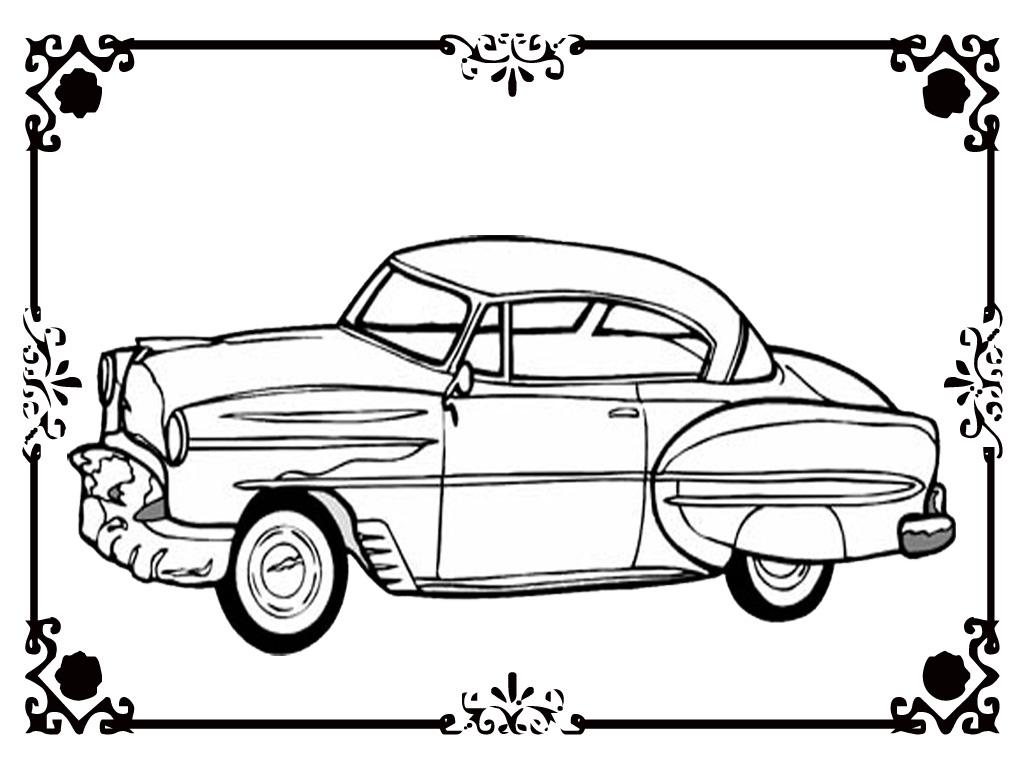 Free Printable Classic Car Coloring Kids Realistic