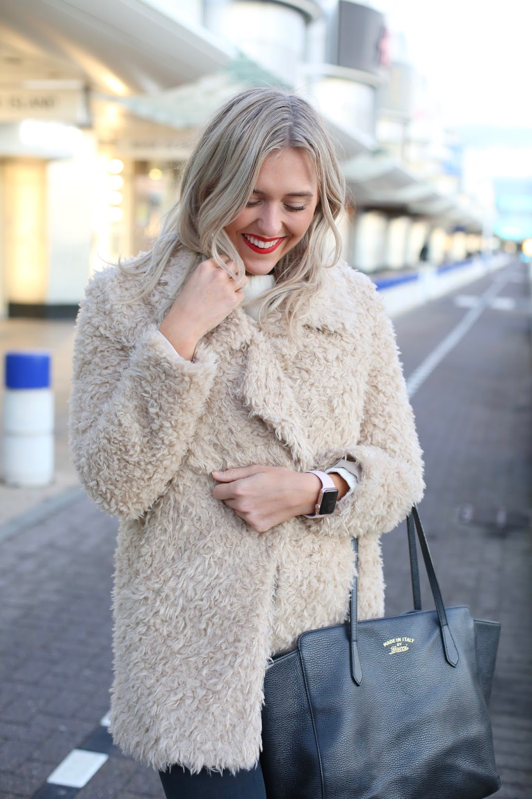 revolve teddy bear coat