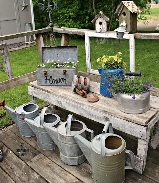 Junky Container Gardens organizedclutter.net