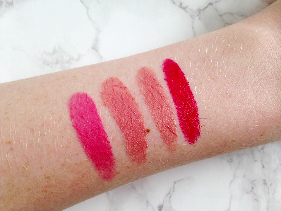 Clinique Lip Pop Colour and Primer Lipstick Swatches
