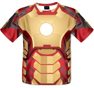 Koszulka Iron Man zbroja fullprint