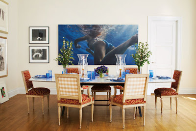 Patricia Herrera Lansing dining room of New York city apartment via belle vivir blog