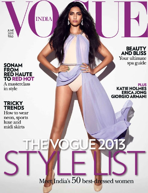 Sonam Kapoor on Vogue Magazine 2013 Cover