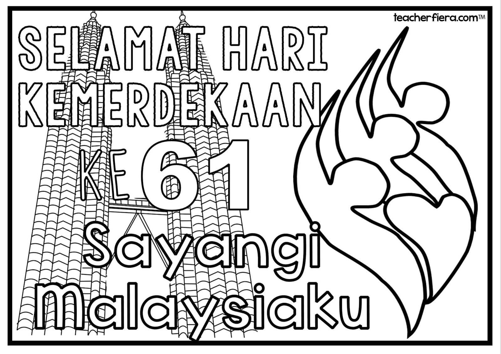 Teacherfiera Colouring Sheets Malaysia Independence