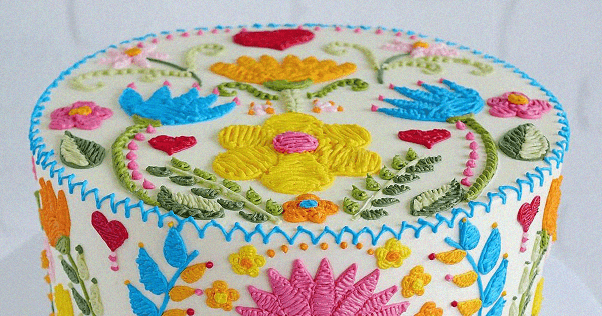 Delicious Cakes Look Like They're Made Of Needle And Thread