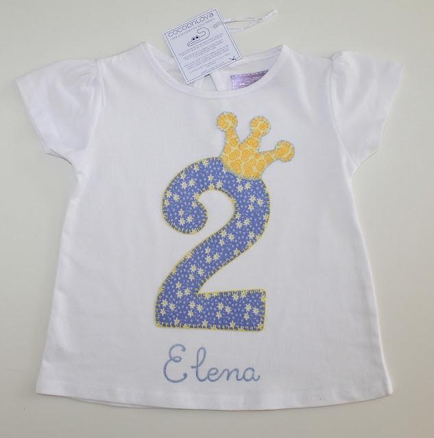 camiseta cumpleaños 2 años