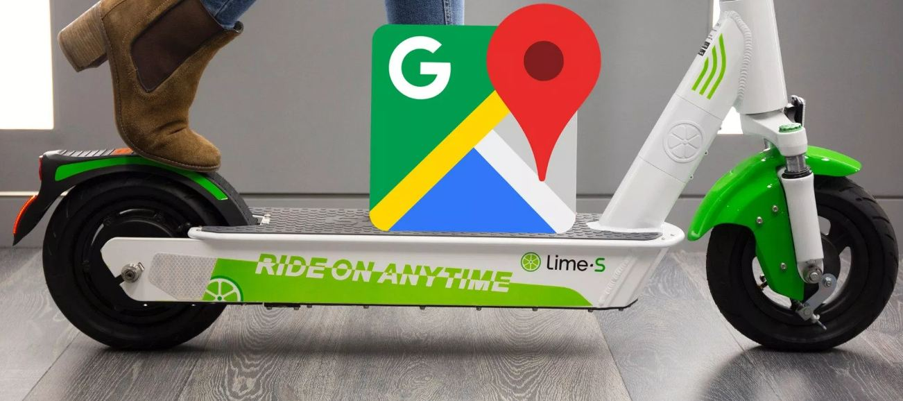 Google Maps App Now Tracks Lime Devices