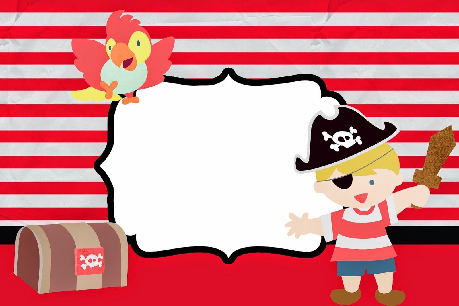 Pequeño Pirata: Invitaciones para Imprimir Gratis. | Ideas y ...