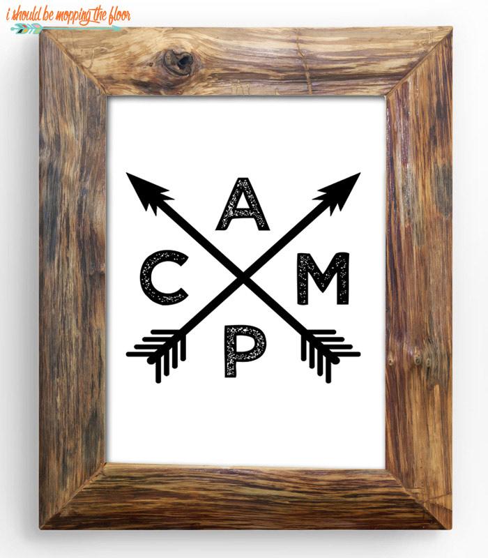CAMP Arrows Printable