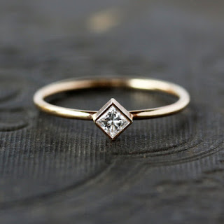 minimalist diamond engagement ring from shop clementine