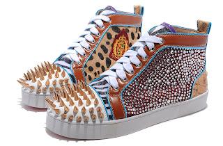 9173a4fb3e11 Fashion man shoes  Colorful Christian Louboutin No Limit Leopard ...