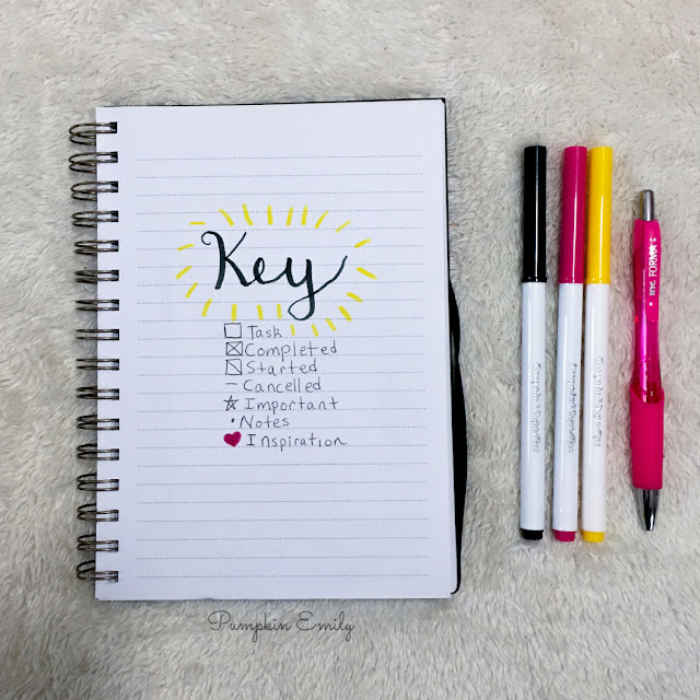 Bullet journal key