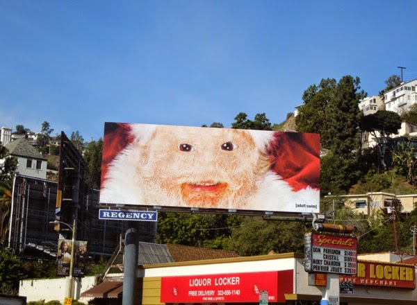 2014 Adult Swim Santa billboard