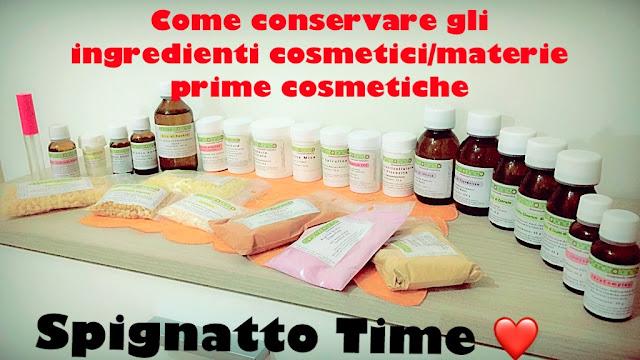 La conservazione degli ingredienti cosmetici/materie prime cosmetiche