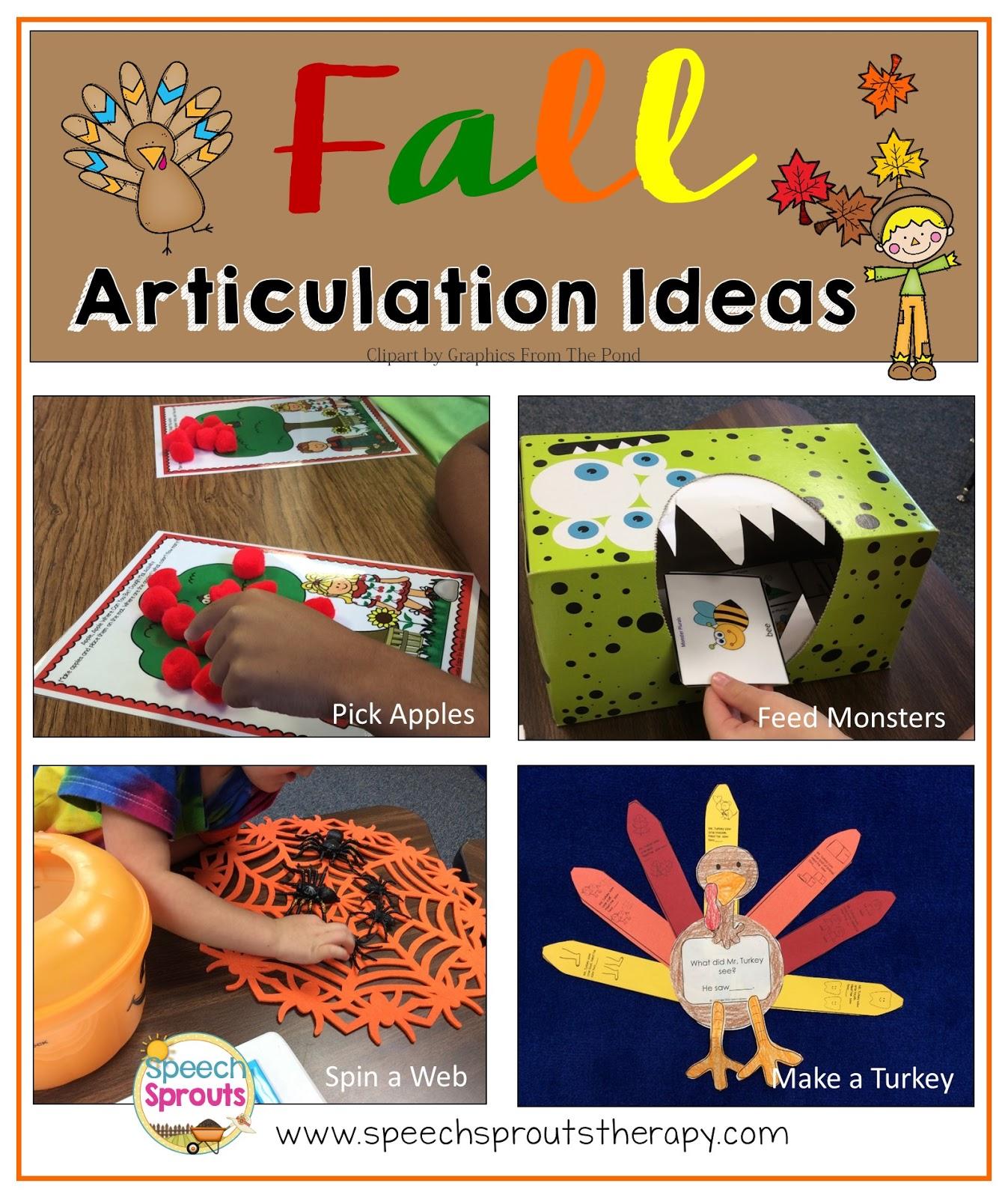 Speech Sprouts Fall Articulation Four Fun Ideas