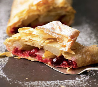 Pear and Cranberry Strudel Recipe
