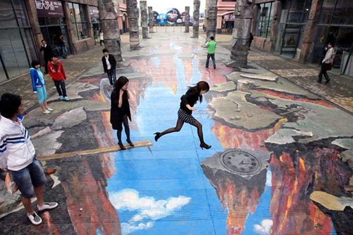 üç boyutlu sokak resimleri