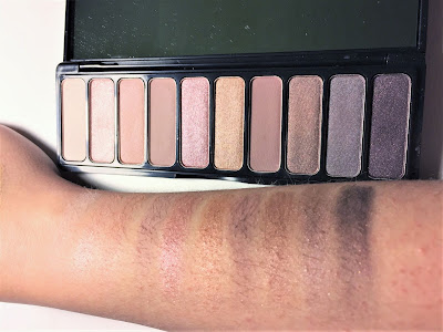 e.l.f. Nude Rose Gold Eyeshadow Palette swatches
